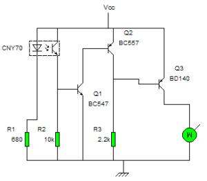 circuito seguidor de lineas